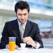 Businessman  drinking coffee — Stock Photo #56559505
