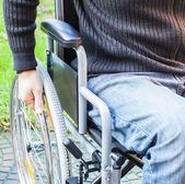 Man using his wheelchair — Stock Photo