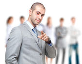Businessman pointing finger at you — Stock Photo
