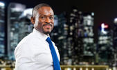 Young black businessman outdoor — Stock Photo
