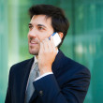 Businessman talking at phone — Stock Photo #59864439