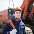 Man at work in construction site — Stock Photo #59864593