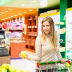 Woman shopping at supermarket — Stock Photo #59864599