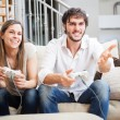 Couple playing video games — Stock Photo #59864731
