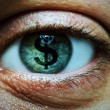 Man with dollar symbol in eye — Stock Photo #59864773