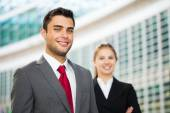 Smiling business people — Stock Photo