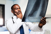 Doctor looking at radiography — Stockfoto