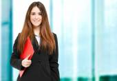 Young businesswoman outdoor — Stock Photo