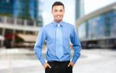 Businessman in business center — Stock Photo