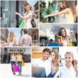 People shopping and having fun — Stock Photo #61556625
