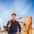 Man at work in a construction site — Stock Photo #61558679