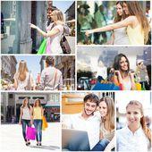 People shopping and having fun — Stock Photo