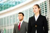 Business people looking to the future — Stock Photo