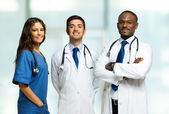 Group of smiling doctors — Foto de Stock
