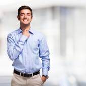 Smiling man portrait — Stock Photo