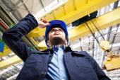 Engineer in a factory — Stock Photo