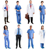 Medical workers in uniform — Stock Photo