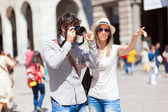 Tourists taking a picture — Stock Photo
