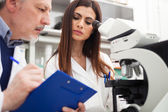 Science researchers in a laboratory — Stockfoto