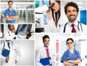 Young doctors at work — Stock Photo