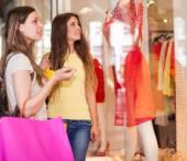 Women doing shopping — Stock Photo