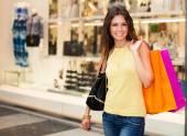 Woman doing shopping — Stock Photo