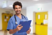 Smiling doctor in an hospital — Stock Photo
