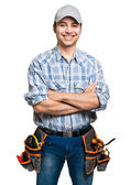 Handsome smiling worker — Photo