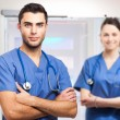 Young doctors at the hospital — Stock Photo #68924679