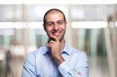 Young smiling businessman — Stock Photo