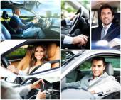 People driving their cars — Stock Photo