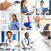 Portrait of doctors at work — Stock Photo