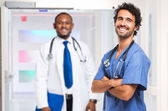 Two Medical workers — Stock Photo