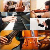 People playing musical instrument — Stock Photo