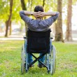 Man sitting in wheelchair — Stock Photo #71382117