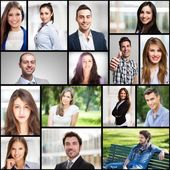 Smiling young people — Stock Photo