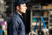 Worker in his factory — Stock Photo