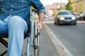 Man using a wheelchair — Stock Photo