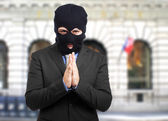 Politician dressed as a thief — Stock Photo