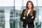 Confident businesswoman outdoors — Stock Photo
