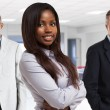 Businesswoman standing in office — Stock Photo #76739015