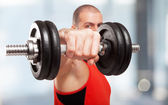 Bodybuilder working out — Stock Photo