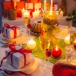 Christmas drinks and presents for long winter nights — Stock Photo #52395295