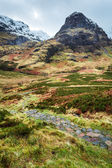 Mountain footpath in Glencoe, Scotland — Stock Photo