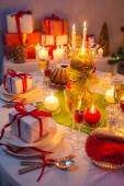 Weihnachten trinkt und präsentiert für lange Winternächte — Stockfoto