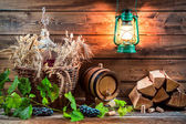 Homemade winemaking in the cellar — Stock Photo