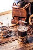Coffee time in a cozy cottage — Stok fotoğraf