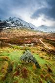 Footpath in Glencoe mountains — Стоковое фото