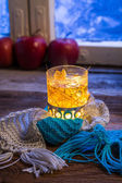 Hot tea in cold evening — Foto Stock