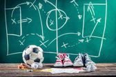 Planification de gagner le match de football — Photo